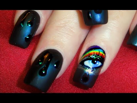 Nail Art Tutorial | Water Drop Nail Design | Rainbow Eyes With Teardrops video