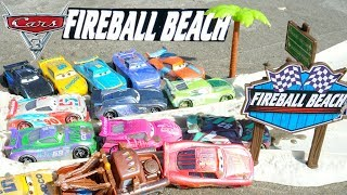 Disney Cars 3 Fireball Beach Racers IRL Racetrack Let's Race in the Mud!
