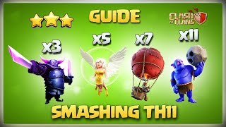 Most Powerful Attack Strategy Th11 Queen Charge Pekka Smash - Best Th11 3 star attack Clash Of Clans