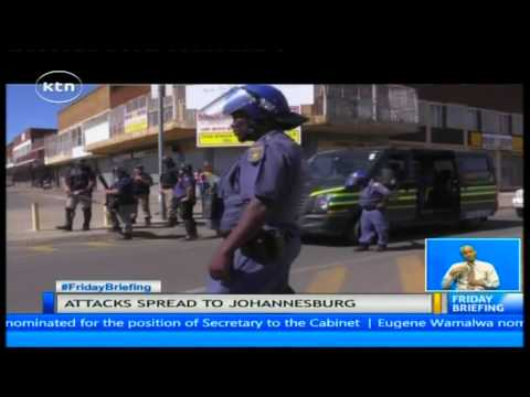 Xenophobic attacks in South Africa spread to Johannesberg