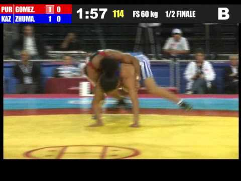 60kg - Franklin Gomez Matos (PUR) vs Dauren Zhumagazyyev (KAZ) 2011 world championship
