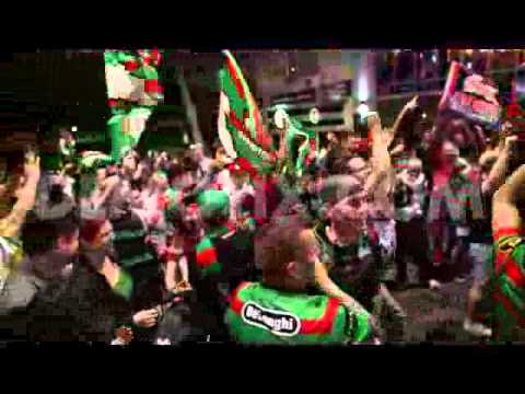 South Sydney Rabbitohs fans celebrate NRL final victory in Redfern
