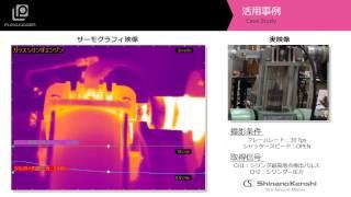 サーモグラフィ+データロガー 「エンジンの発熱」