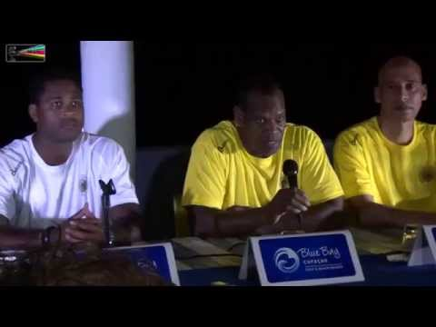 Press Conference 24.03.2015 Technical Staff Curacao National Football team Patrick Kluivert advisor