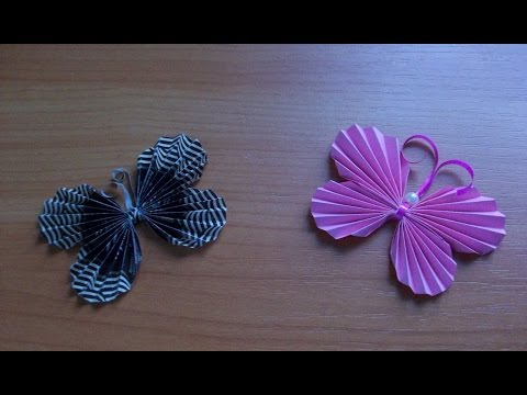 Поделки Своими Руками Для Декора Дома. Оригами Бабочки из Бумаги. Origami Butterfly