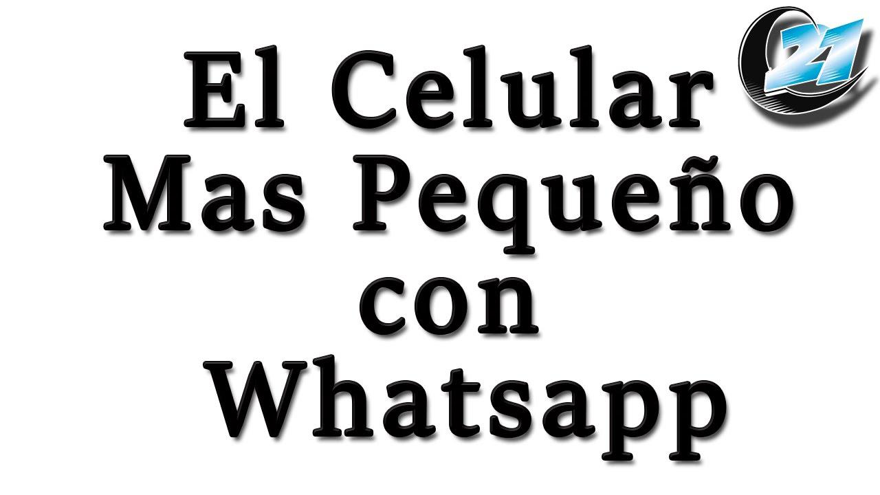 el celular mas peque u00f1o con whatsapp  mini 5130
