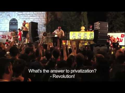 150,000 Israelis march for Social Justice, Housing, Health Care, Wages. Aviv Geffen sings for hope