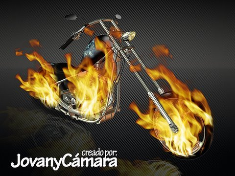 Tutorial Photoshop: Motocicleta de Fuego