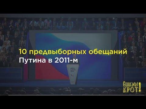10 обещаний Путина 2011 года: что из этого получилось — в цифрах и фактах