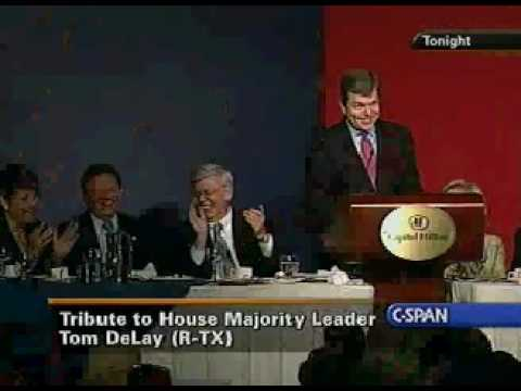 Roy Blunt at Tom DeLay Tribute Dinner