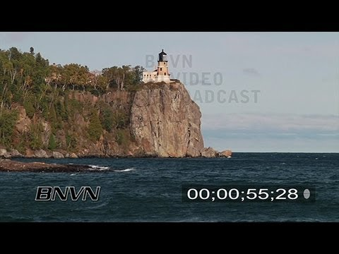 Split Rock Lighthouse Stock Footage