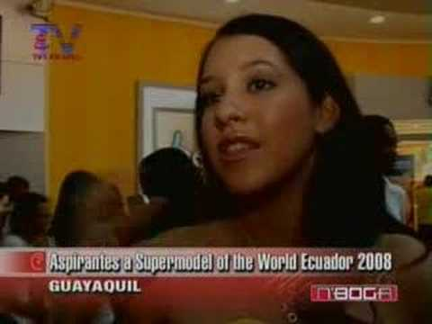 Aspirantes a Supermodel of the World Ecuador 2008