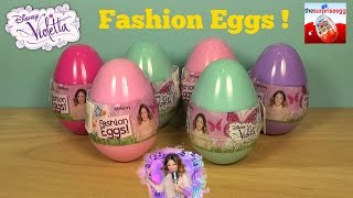 6 Disney ❤ Violetta Fashion Eggs ❤ surprise