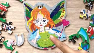 Đồ chơi lắp ráp bằng gỗ, lắp ráp thủy thủ mặt trăng, thiên thần, lego đồ chơi thông minh (Chim Xinh)