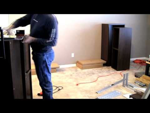 Ikea Besta/Framsta - Wall Mount Entertainment Center Assembly Part 2