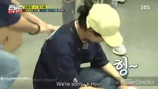 Park Seo Joon and Song Ji Hyo laugh together