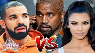 Kanye West and Kim Kardashian slam DRAKE on social media! | Kanye exposes Drake
