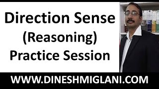 Best Tricks and Shortcuts on Direction Sense (Reasoning) Practice Session