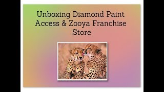 Unboxing Diamond Paint Access & Zooya Franchise Store