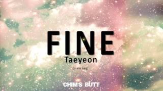 Fine - Taeyeon (male key)   Chim's Butt