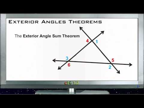 Exterior Angles Theorems Principles - Basic
