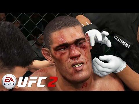 EA Sports UFC 2 - Mike Tyson vs Bigfoot Silva Gameplay PS4 / Xbox One