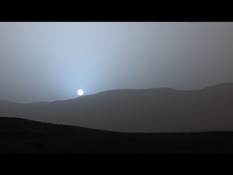 NASA's Curiosity rover captures stunning Mars sunset