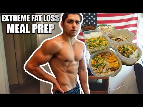 MY EXTREME FAT LOSS MEAL PREP | Step By Step Shredding Diet Meal Plan