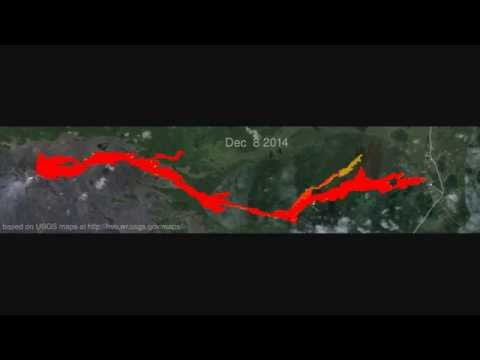 Animation of USGS maps of the June 27th lava flow (updated Jan 13, 2015)