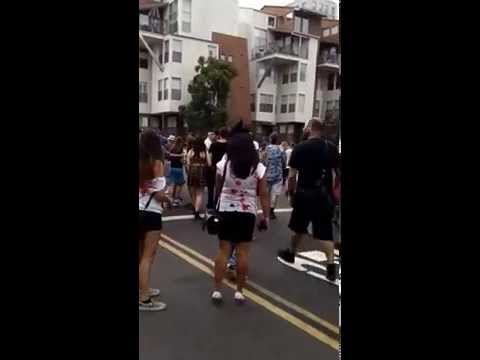 Woman Gets Hit By Car At San Diego Comic Con Zombie Walk 2014 video