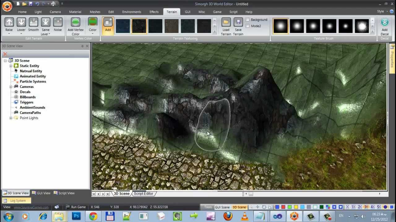 Simorgh 3d World Editor Part1 Add Edit Textures Per Pixel: 3d editor
