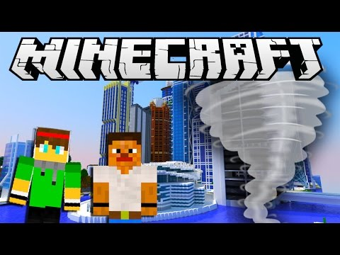 Minecraft City Destruction - TORNADO HITS THE CITY !
