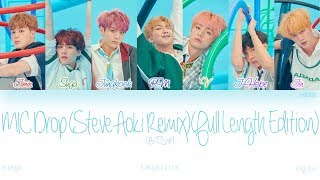 Han Rom Eng Bts 방탄소년단 Mic Drop Steve Aoki Remix Full Length Edition Color Coded