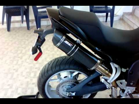 Triumph Tiger 1050 SCProject Oval Carbon Racing Slip_On Exhaust (Without DB Killer).3gp