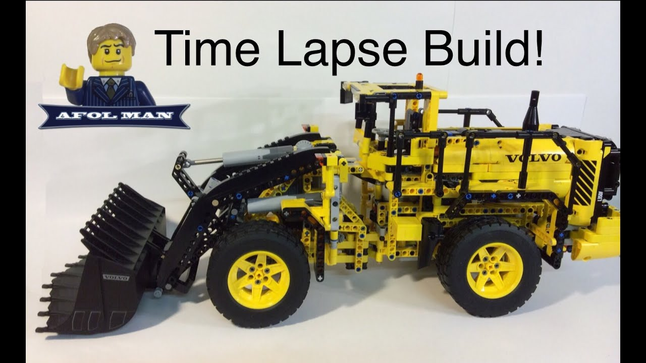 lego technic volvo l350f wheel loader 42030 time lapse. Black Bedroom Furniture Sets. Home Design Ideas