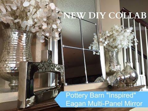"$5 Dollar Tree Up-Cycle Challenge:  DIY ""Pottery Barn Inspired Eagan Mirror"