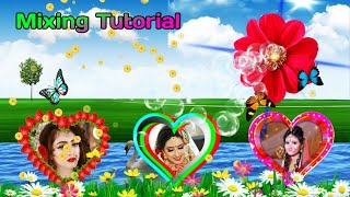 Romantic Background wedding green screen effects mixing // Beautiful Love green screen flower effect