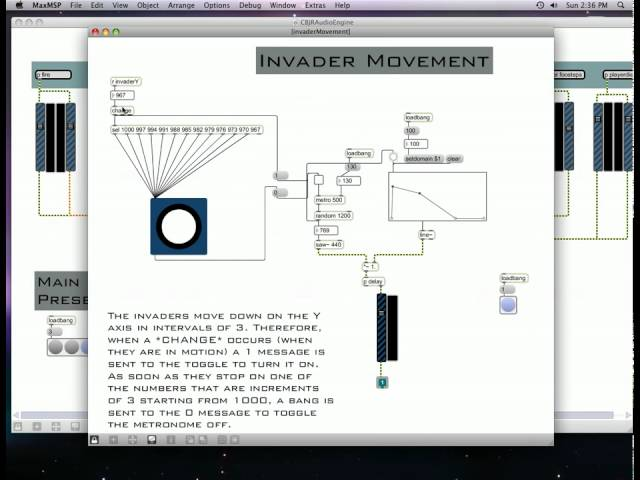 Max/MSP Audio Engine for Space Invaders PART 2
