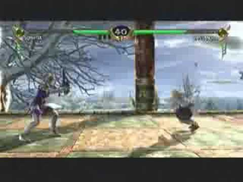 Soul Calibur 4 Match Gameplay Video - Sophitia VS Cassandra
