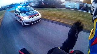 EPIC POLICE CHASE GETAWAY  | POLICEMEN SHOOT | 50ccm MOPED VS. POLICE
