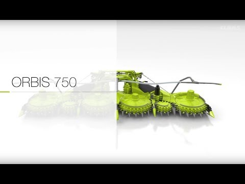 CLAAS ORBIS 750. Animation.