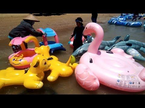 BANYAK PERMAINAN ANAK, WATER SLIDE MAINAN AIR - KARANG JAHE, ZHIYUN SMOOTH 4 - BABY SHARK DANCE