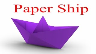 How to make Paper Ship (very easy)