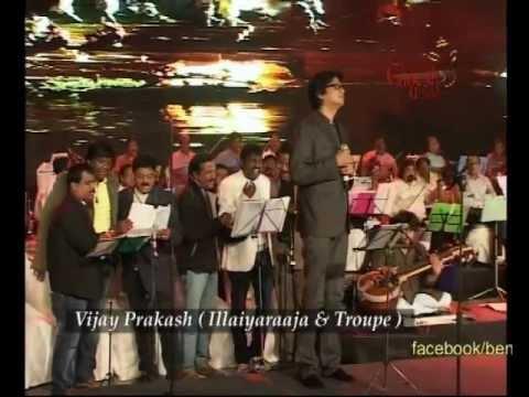Vijay Prakash with  Ilaiyaraaja performing @ 50th Bengaluru Ganesh Utsava
