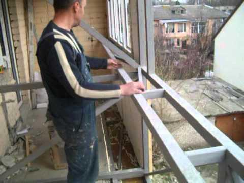 Усиление плиты балкона, укрепление балкона, металлокаркас на.