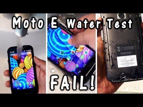 MOTO E Water Test = Dead Phone [MUST WATCH]