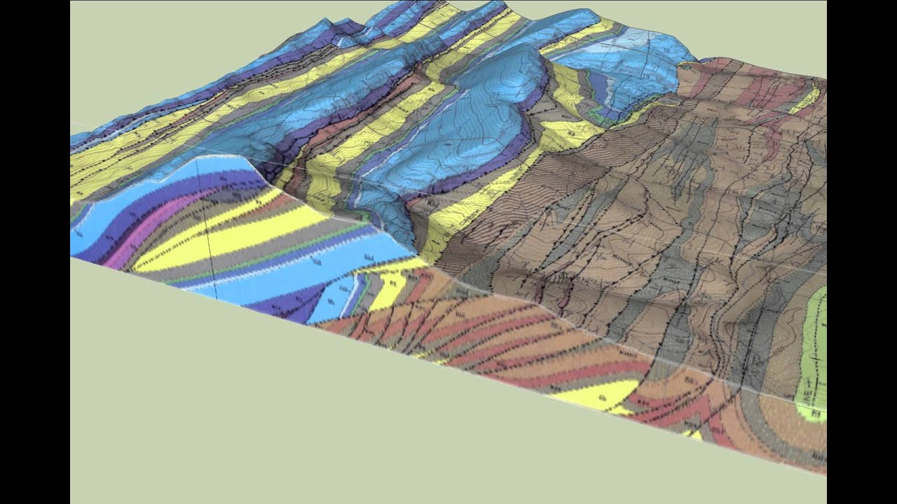 3d Block Diagram Of The Geology Of The Castle Reef Quadrangle  Montana