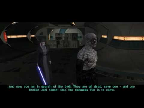 Kreia Confronts Darth Sion With a Lightsaber