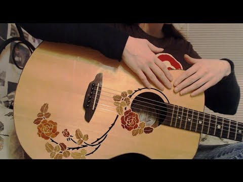 [asmr] Binaural Acoustic Guitar Sounds + Tapping + Gentle String Touching  (no Playing) video
