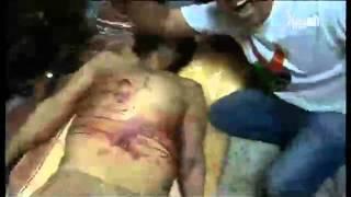 Tv Al Arabiya - Trophy Pictures Of Dead Dictator Muammer  Gaddafi.mov